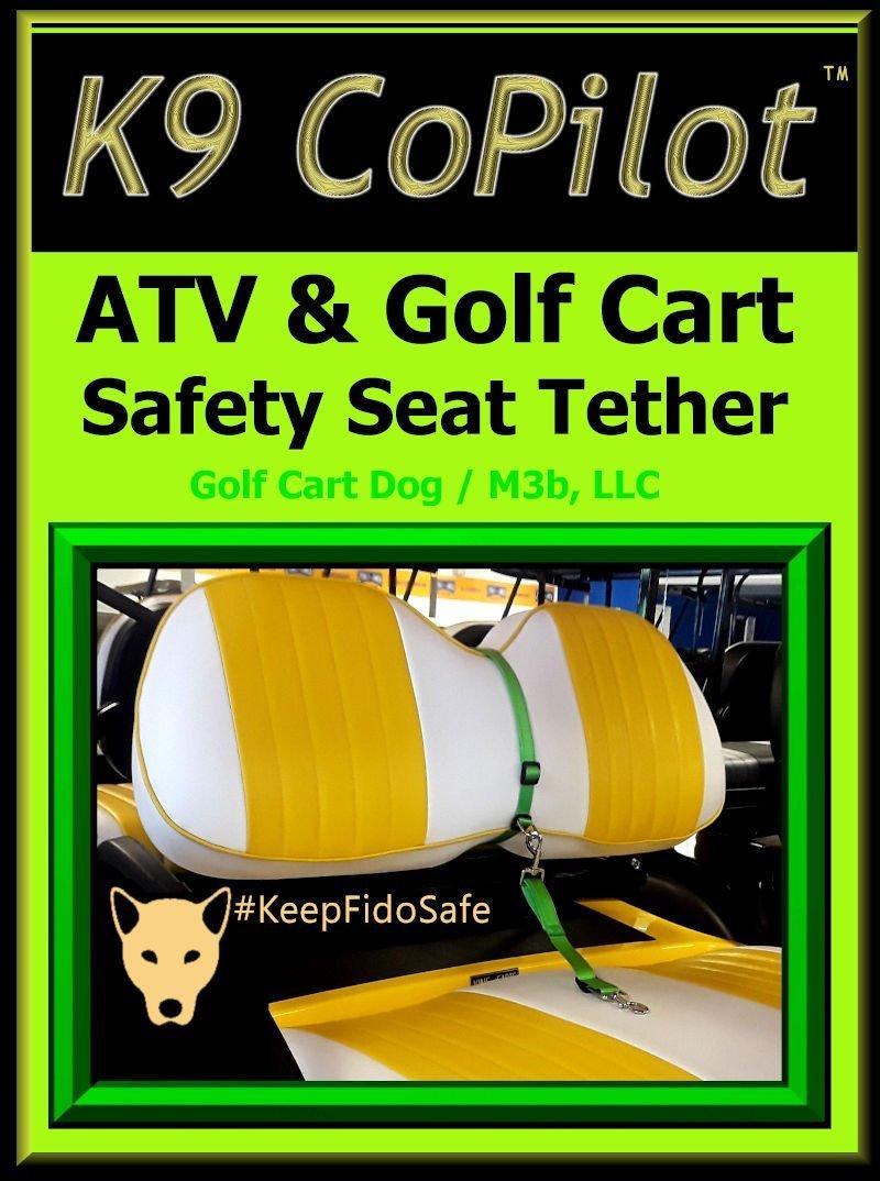 K9 CoPilot ATV & Golf Cart Safety Seat Tether