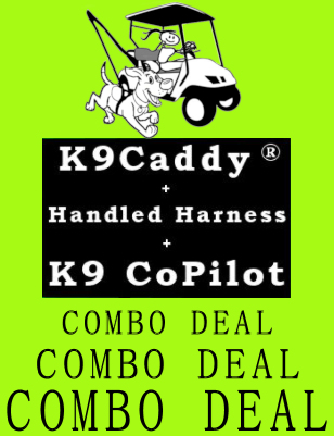 Combo Deal - K9Caddy, Handled Harness and K9 CoPilot
